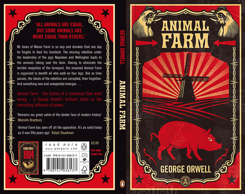 the abuse of power in animal farm by george orwell